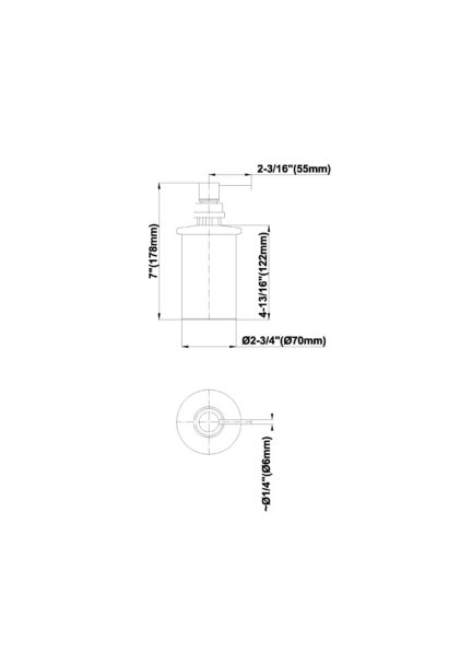 Dispenser sapun Graff Bali 2373300 Fisa tehnica