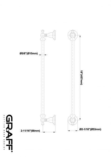 Suport prosop bara Graff Bali 45,7cm-2064107 Fisa tehnica