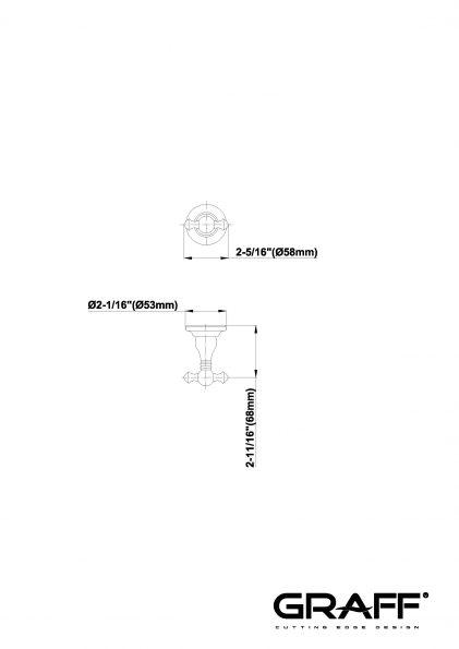 Suport prosop cuier Graff Bali 2064207 Fisa tehnica