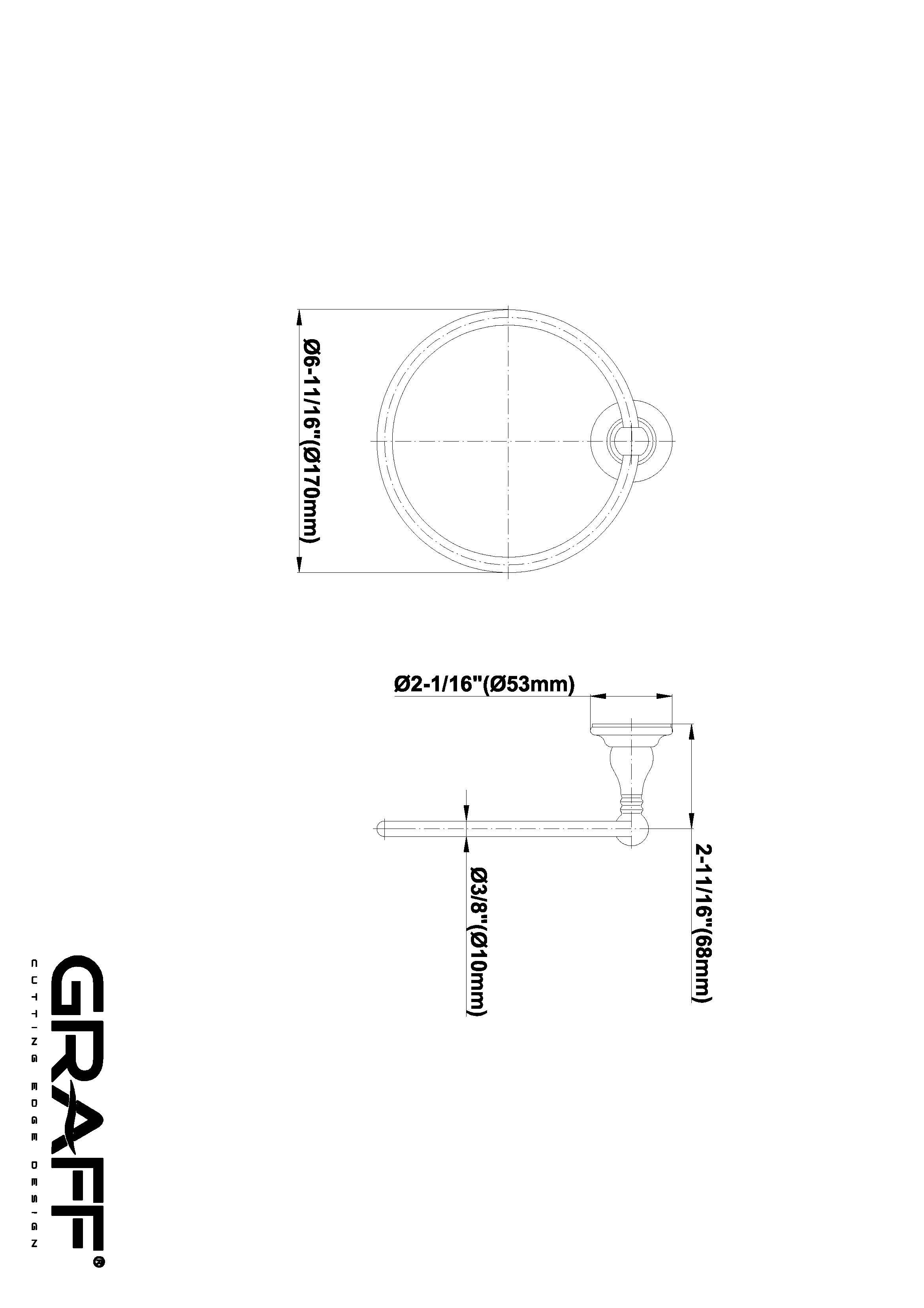 Suport prosop tip inel Graff Bali 2064407 Fisa tehnica