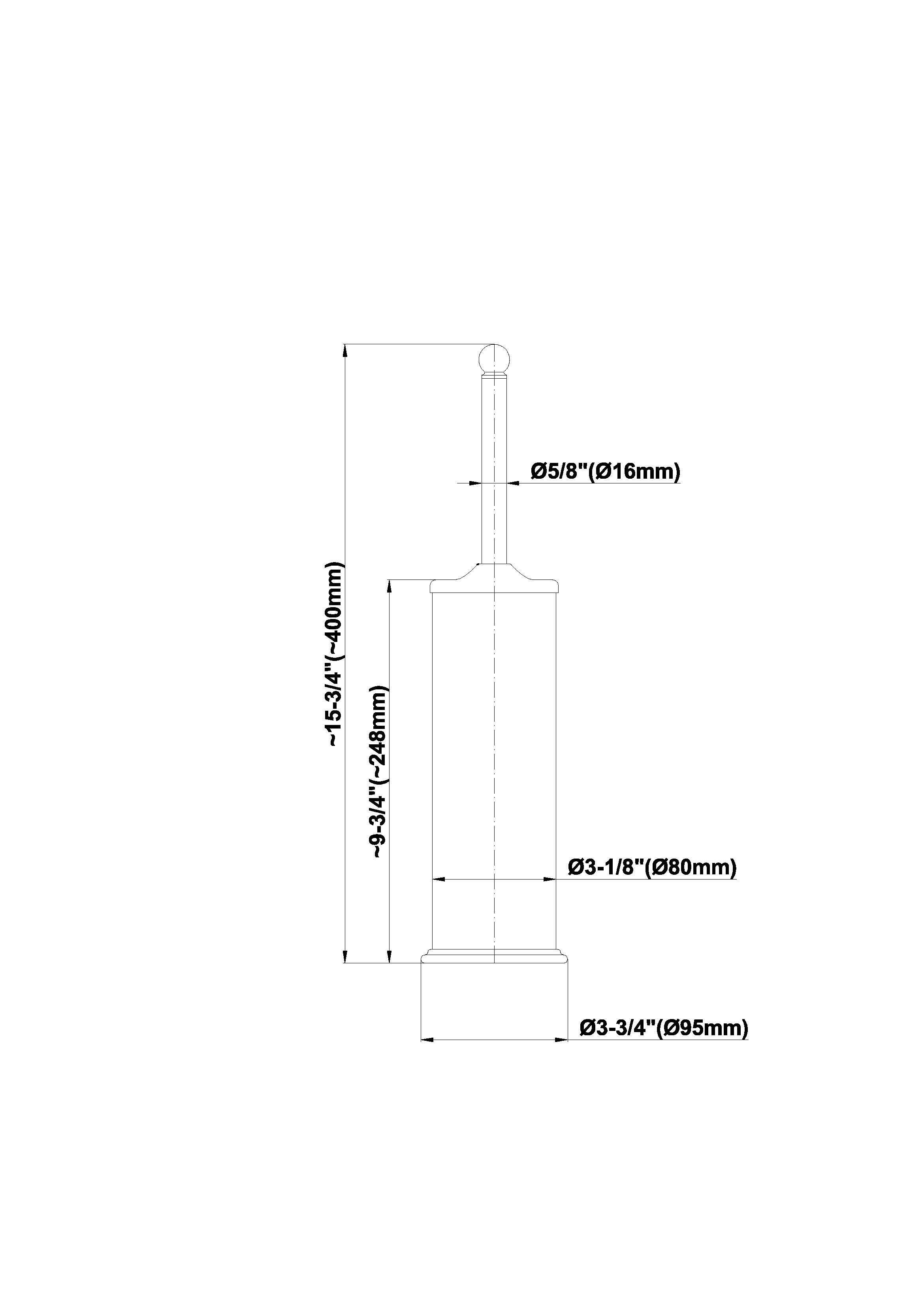 Suport pentru perie WC Graff Bali 2379100 Fisa tehnica