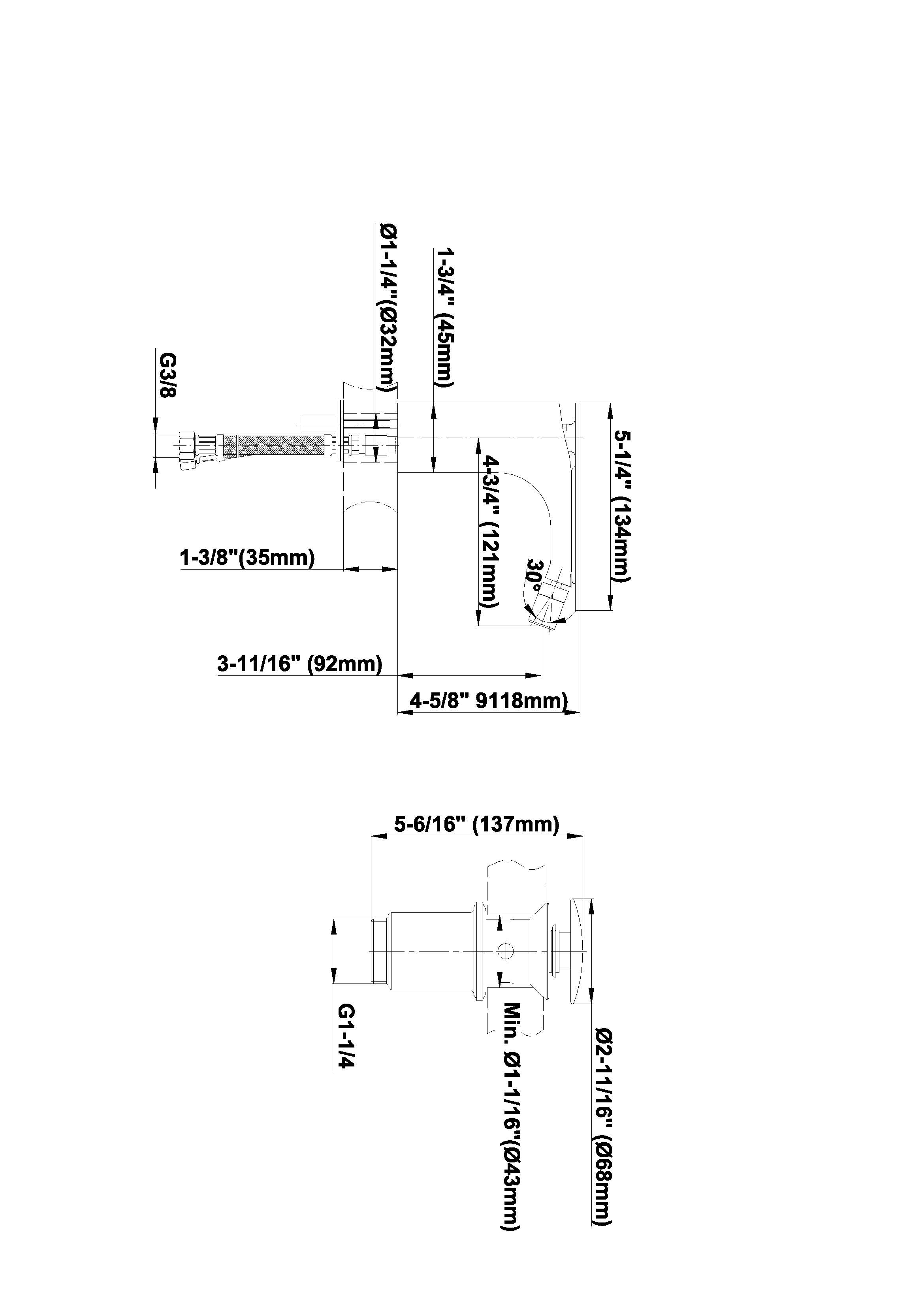 Baterie bideu monocomanda Graff Sento Fisa tehnica