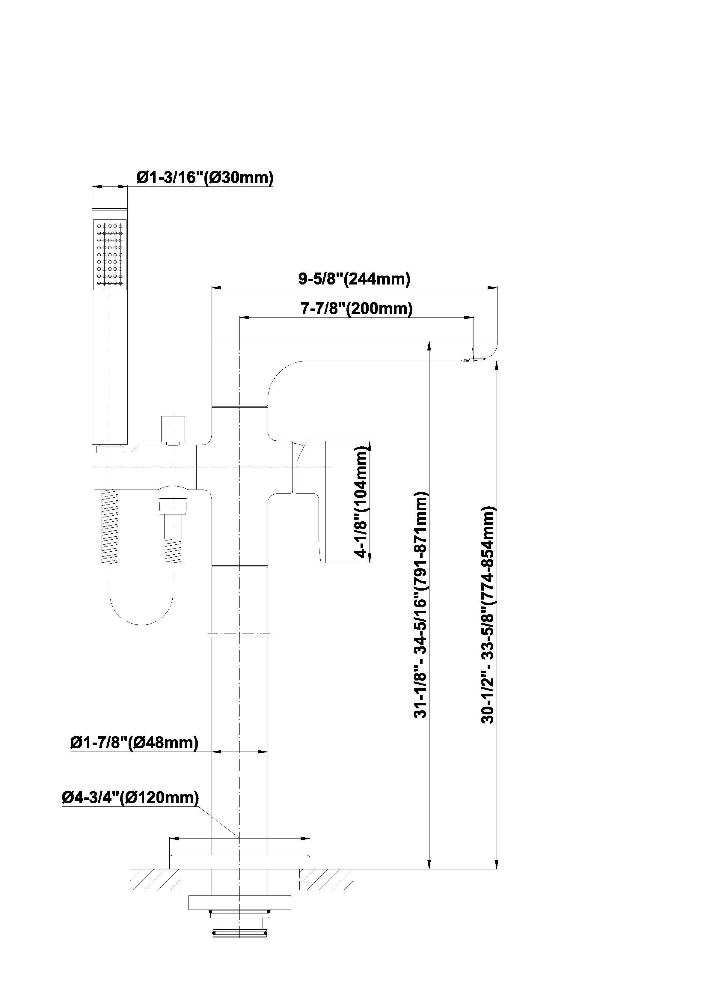 Baterie de cada podea Graff Sento 5106000 Fisa tehnica