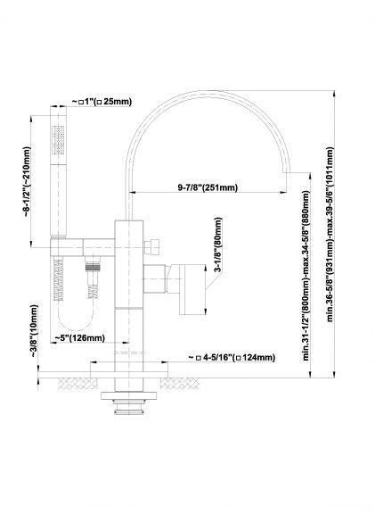 Baterie de cada cu montaj in podea graff sade 2369200 Fisa tehnica