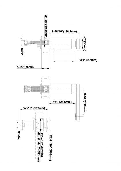 Baterie lavoar monocomanda Graff Solar 2310000 Fisa tehnica