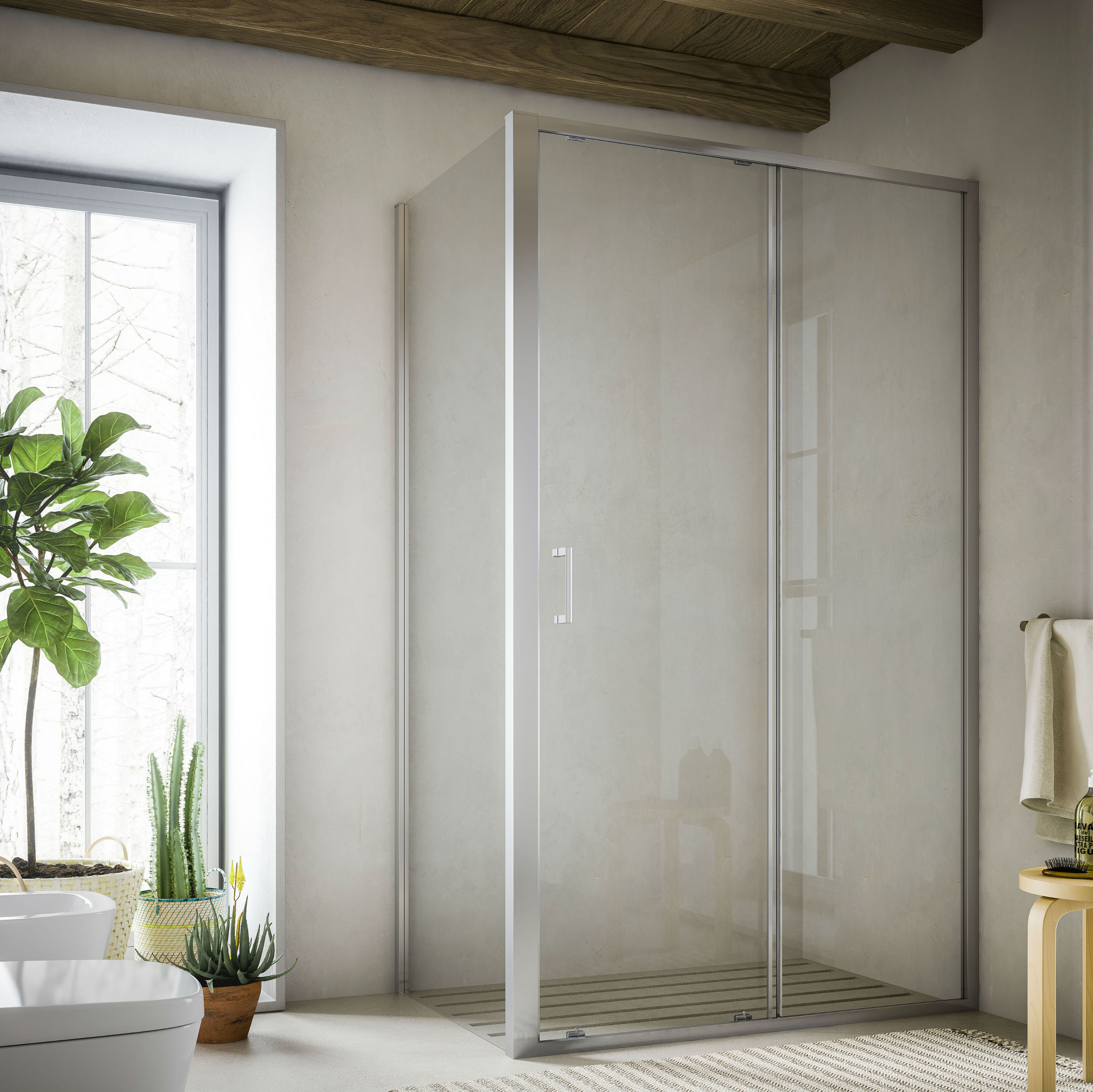 Cabina de duș cu usa glisanta MOMH soho glass