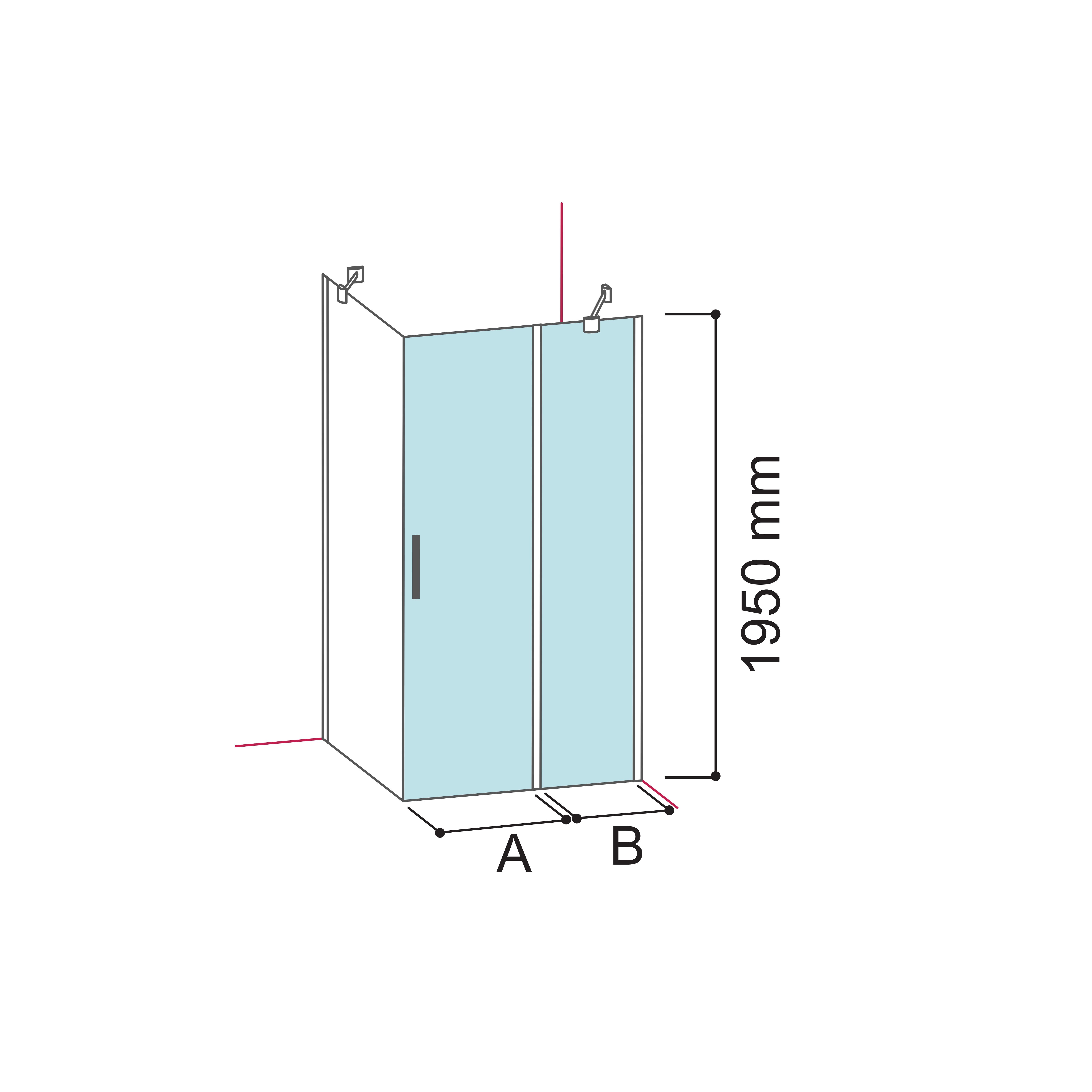Usa pivotanta cu segment fix soho md Glass