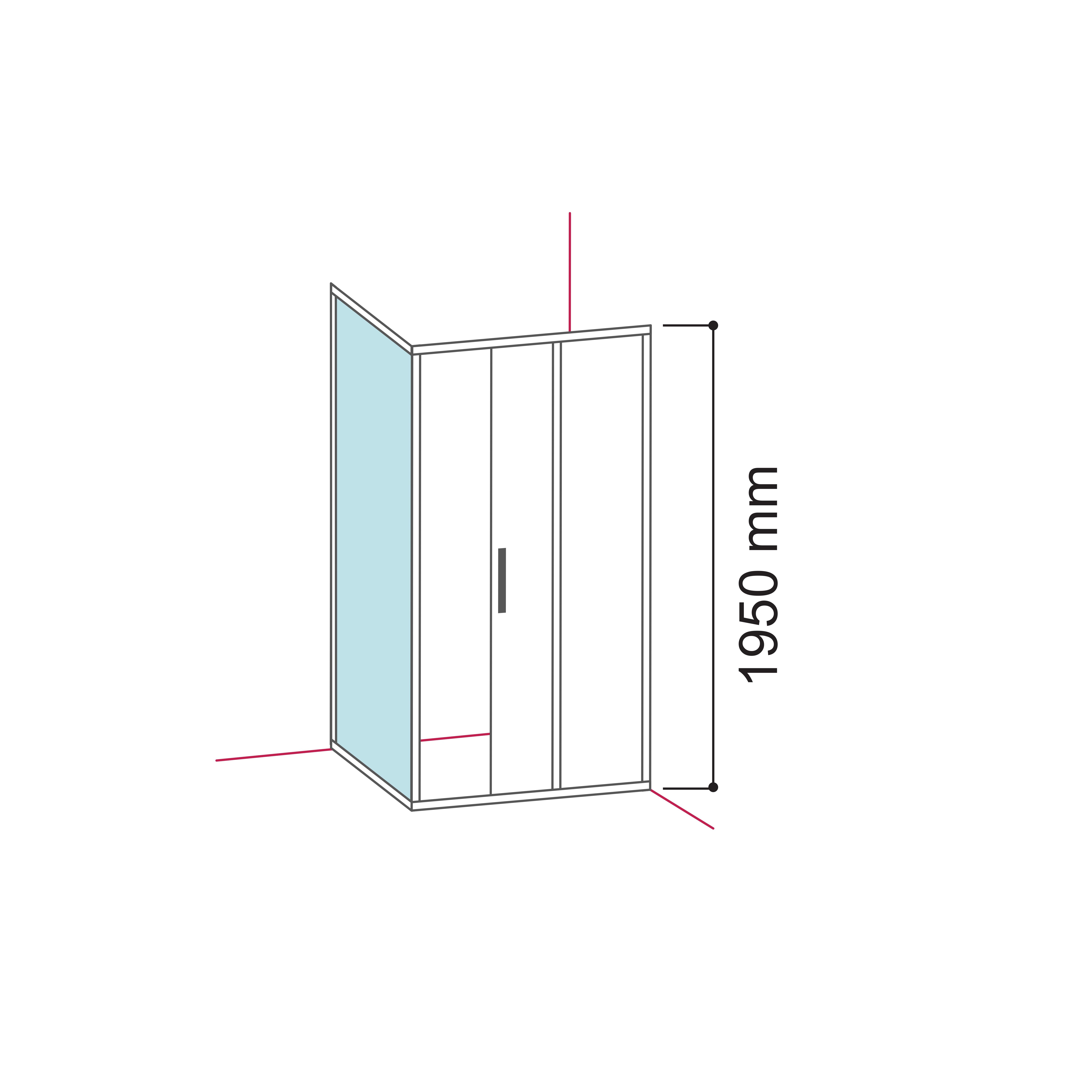 panel lateral pentru cabina de dus soho mh