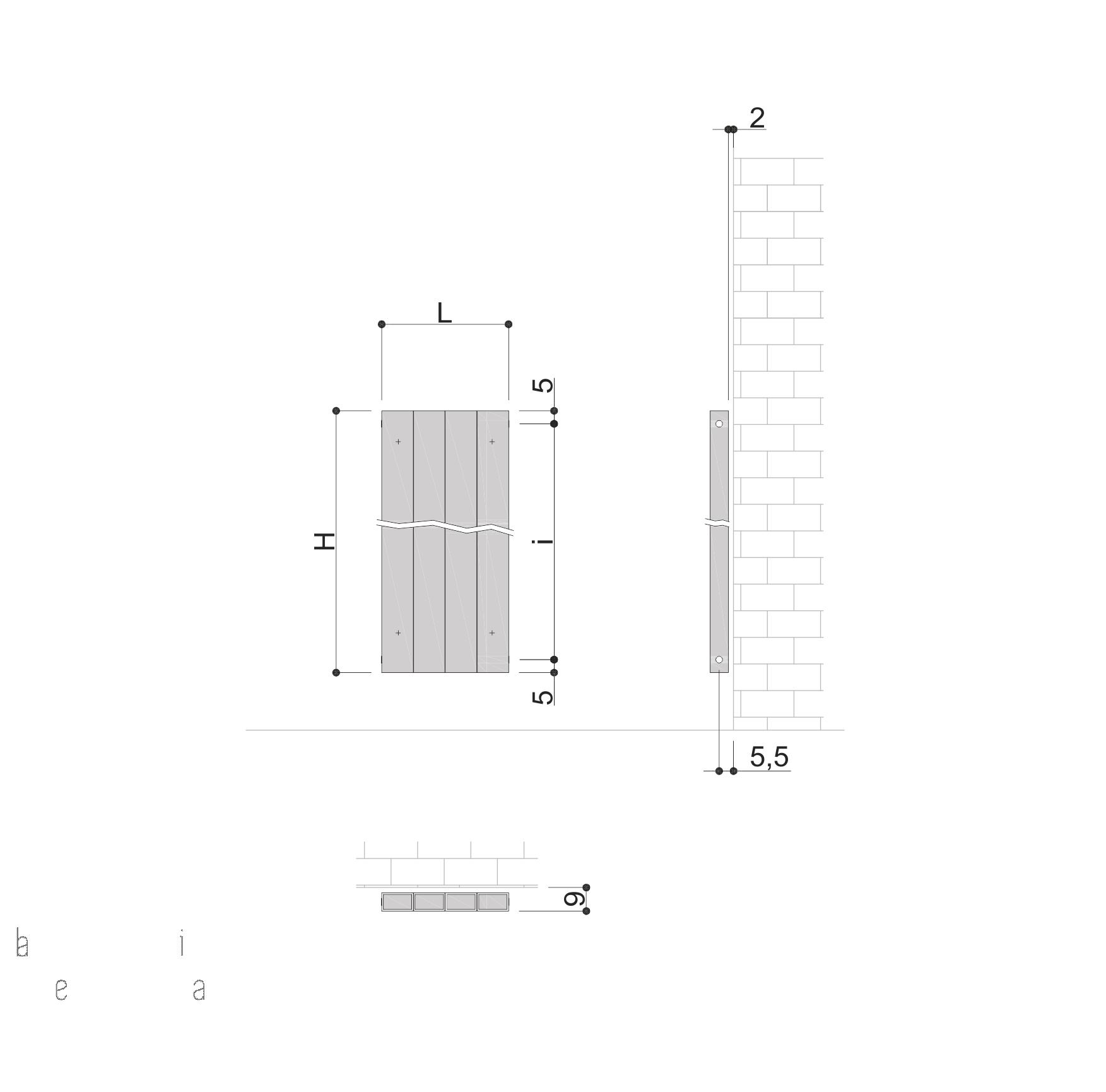 schita radiator premium Ridea Piano Plain